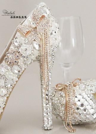 New-Design-Pouplar-2016-Pearls-Lace-Evening-Prom-Bridal-Shoes-Women-High-Heel-11cm-Wedding-Shoes
