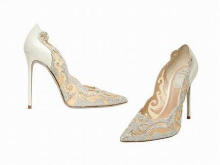 Wedding-Swarovski-and-Lace-Pumps