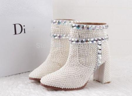 handmade-women-ankle-boots-bling-bling-crystal-wedding-shoes-bridal-shoes-Evening-party-Shoes-botas-femininas