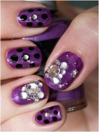 Purple-Polka-and-Stones