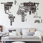 буквы на стене печатные