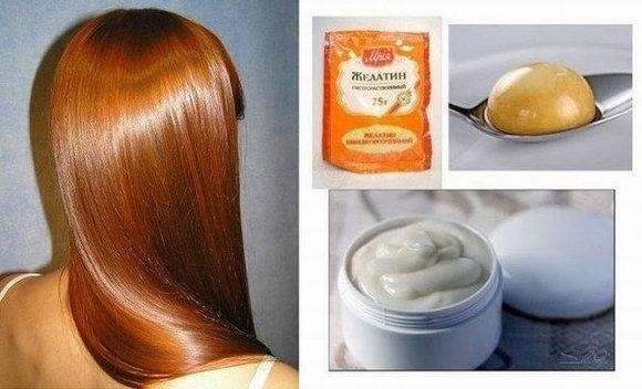 Как сделать ламинирование волос с желатином