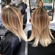 Стильное омбре для средних волос