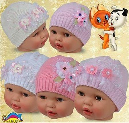 трикотажные детские шапки оптом