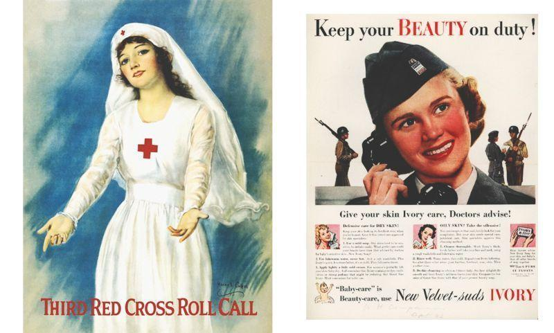 Как женщины оставались красивыми на войне