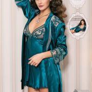 Шелковый комплект халат и ночная сорочка Подробнее: https://shoppingood.com.ua/p354295981-shelkovyj-komplekt-halat.html