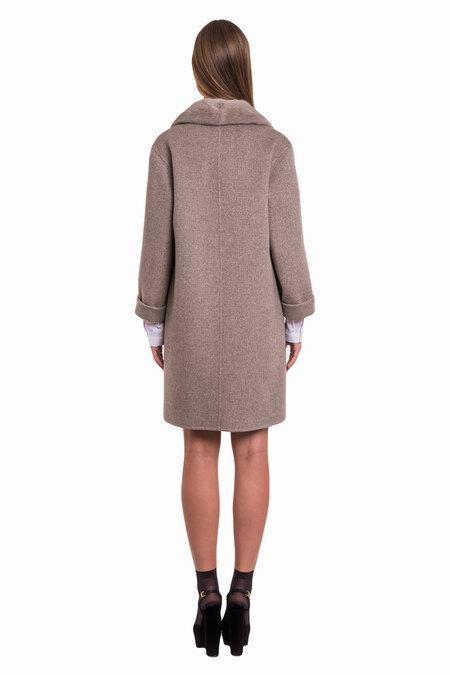 Женское пальто из Италии с кашемиром Loro Piana