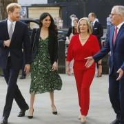 Меган Маркл и принц Гарри на приеме в Лондоне: ФОТО