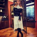 Не по погоде: Собчак носит платья-«разлетайки» в октябре