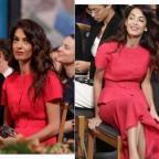 Амаль Клуни в ярком образе пришла на церемонию вручения Нобелевской премии мира (ГОЛОСОВАНИЕ)