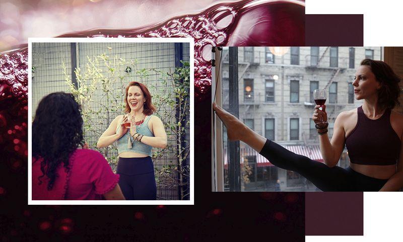 Пьяная йога: можно ли совместить любовь к вину и занятия в зале