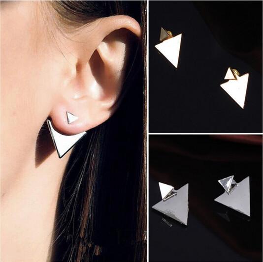 Какому овалу лица подходят треугольные серьги?