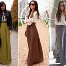 Стильные юбки макси