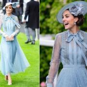 Кейт Миддлтон в голубом платье восхитила всех на скачках Royal Ascot (ФОТО+ГОЛОСОВАНИЕ)