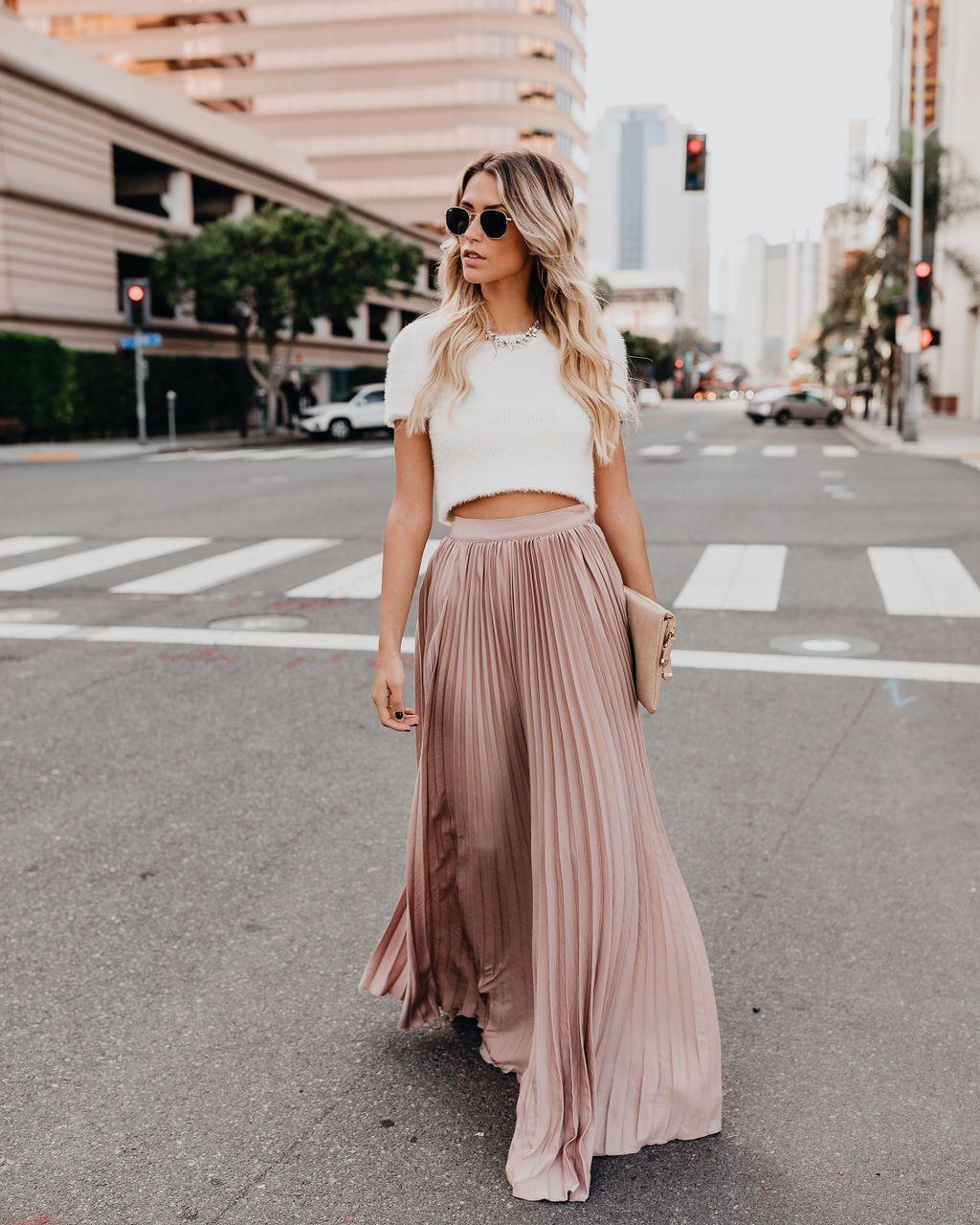 Модные юбки из тонких тканей