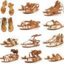 Модные тренды 2020: плетеные сандалии в греческом стиле