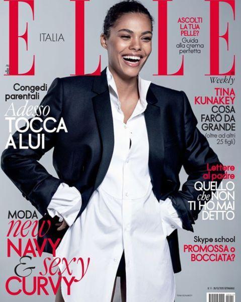 В мужском костюме и с очаровательной улыбкой: Тина Кунаки украсила обложку ELLE Италия (ФОТО)
