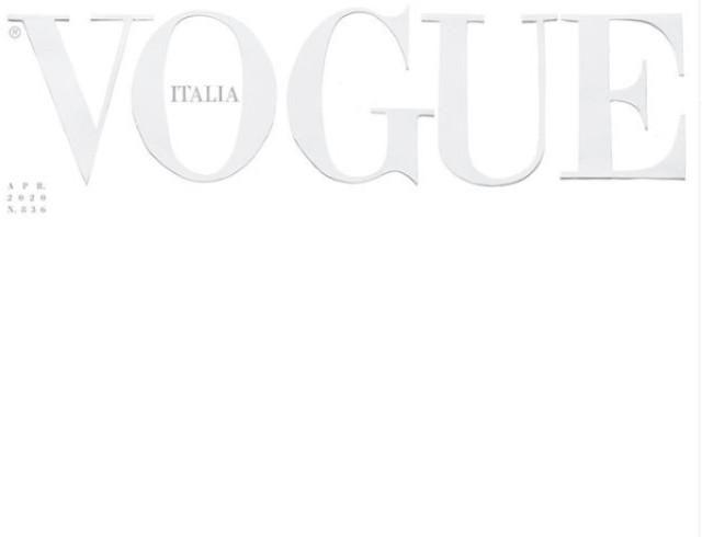 Новая глава в истории: итальянский Vogue вышел с пустой обложкой из-за COVID-19