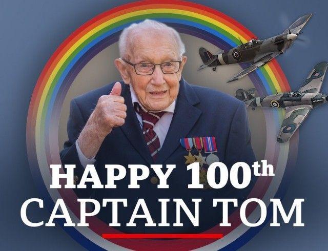 Ветеран Том Мур, собравший 40 миллионов для врачей, отпраздновал 100-летие (ФОТО)