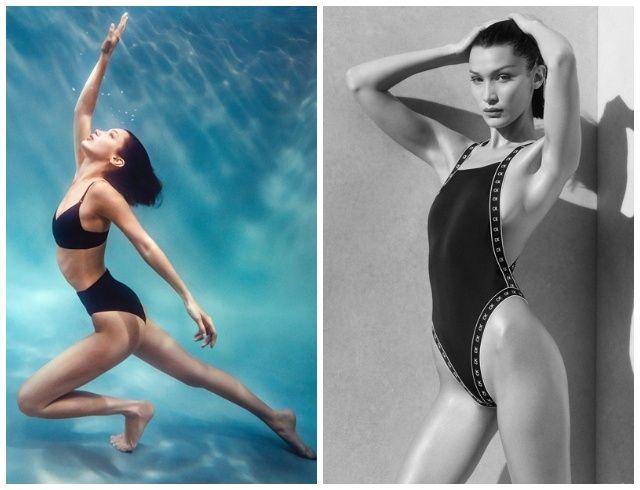 Само совершенство: Белла Хадид в рекламе стильных купальников Calvin Klein (ФОТО)