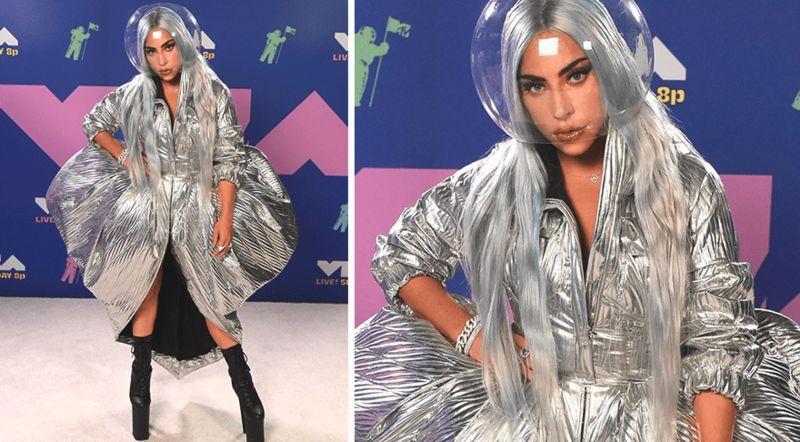 Безопасность и шик: 6 запоминающихся образов Леди Гаги с церемонии премии MTV VMA 2020