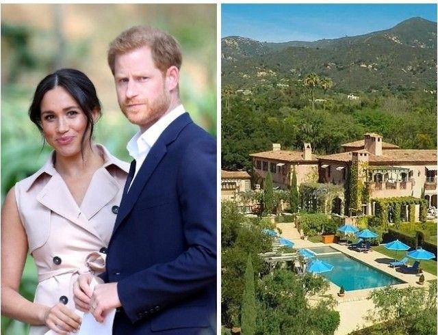 9 спален, 16 ванных комнат, театр и винный погреб: как выглядит роскошный дом принца Гарри и Меган Маркл
